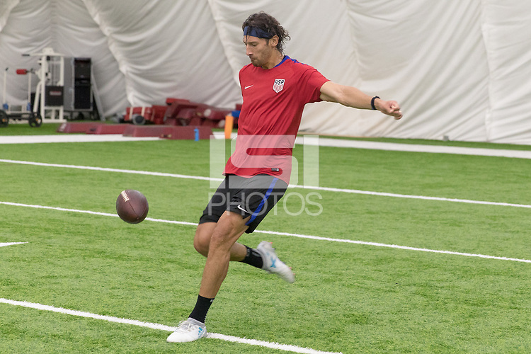 Nashville, TN - July 5, 2017: Omar Gonzalez during Training Titans Practice Facility prior to their 2017 Gold Cup.