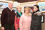 Michael, Linda, Kathleen and Laura Downes at the Art Exhibition in Scoil Aonghusa..(Photo credit should read Jenny Matthews www.newsfile.ie)....This Picture has been sent you under the conditions enclosed by:.Newsfile Ltd..The Studio,.Millmount Abbey,.Drogheda,.Co Meath..Ireland..Tel: +353(0)41-9871240.Fax: +353(0)41-9871260.GSM: +353(0)86-2500958.email: pictures@newsfile.ie.www.newsfile.ie.
