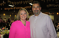 NWA Democrat-Gazette/CARIN SCHOPPMEYER Nicole and Mike Bagley attend the Komen Ozark Promise Circle luncheon March 29. Nicole is the honorary Surviver Chairwoman for the Race for the Cure.