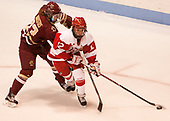 Andie Anastos (BC - 23), Victoria Bach (BU - 12) - The Boston College Eagles defeated the Boston University Terriers 3-2 in the first round of the Beanpot on Monday, January 31, 2017, at Matthews Arena in Boston, Massachusetts.