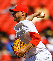 Lazaro Blanco, starting pitcher of the Alazanes of Granma Cuba, throws the ball in the first inning of the baseball game of the Caribbean Series against the Caribs of Anzo&aacute;tegui<br /> &nbsp; of Venezuela in Guadalajara, Mexico, Friday, February 2, 2018.<br /> (AP Photo / Luis Gutierrez)