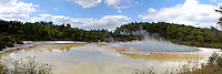 Panorama of Rotorua Thermal Springs, Nth Island, NZ