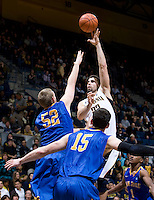 Harper Kamp of California shoots the ball during the game against SJSU at Haas Pavilion in Berkeley, California on December 7th, 2011.   California defeated San Jose State, 81-62.