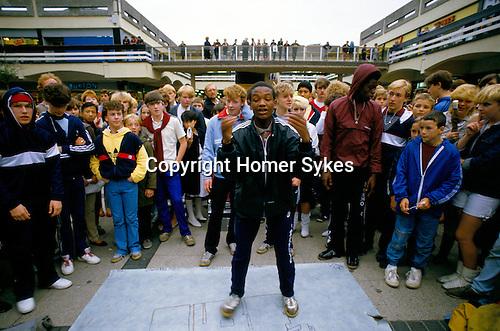Breakdancing Stockport Lancashire. 1980s Britain.
