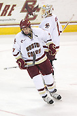 Carl Sneep (BC - 7), John Muse (BC - 1) - The Boston College Eagles defeated the University of Massachusetts-Amherst Minutemen 5-2 on Saturday, March 13, 2010, at Conte Forum in Chestnut Hill, Massachusetts, to sweep their Hockey East Quarterfinals matchup.
