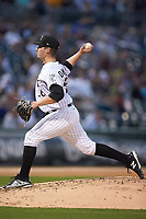 Charlotte Knights relief pitcher Tyler Danish (26) in action against the Scranton/Wilkes-Barre RailRiders at BB&T BallPark on April 12, 2018 in Charlotte, North Carolina.  The RailRiders defeated the Knights 11-1.  (Brian Westerholt/Four Seam Images)