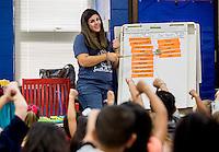 NWA Democrat-Gazette/JASON IVESTER <br /> First grade teacher Carmen Flynt talks on Tuesday, Aug. 18, 2015, to her students at T.G. Smith Elementary School in Springdale.