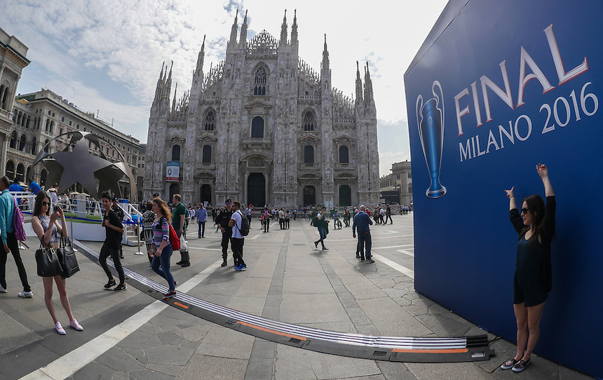 MILAN, ITALY - MAY 27:  A general view during the Champions Festival prior to the Champions League Final at on Friday 27th May 2016 in Milan, Italy.  (Photo by Ian Cook/CameraSport)
