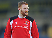 Fleetwood Town's Cian Bolger during the pre-match warm-up <br /> <br /> Photographer Kevin Barnes/CameraSport<br /> <br /> The EFL Sky Bet League One - Oxford United v Fleetwood Town - Tuesday 10th April 2018 - Kassam Stadium - Oxford<br /> <br /> World Copyright &copy; 2018 CameraSport. All rights reserved. 43 Linden Ave. Countesthorpe. Leicester. England. LE8 5PG - Tel: +44 (0) 116 277 4147 - admin@camerasport.com - www.camerasport.com