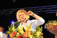 TURNEN: HEERENVEEN: centrum Heerenveen, 16-08-2012, Huldiging Olympisch kampioen, Epke Zonderland met z'n gouden medaille, benoemd tot Ereburger van Heerenveen, ©foto Martin de Jong
