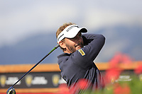 Joost Luiten (NED) tees off the 18th tee during Thursday's Round 1 of the 2017 Omega European Masters held at Golf Club Crans-Sur-Sierre, Crans Montana, Switzerland. 7th September 2017.<br /> Picture: Eoin Clarke | Golffile<br /> <br /> <br /> All photos usage must carry mandatory copyright credit (&copy; Golffile | Eoin Clarke)
