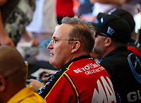 Jun 1, 2018; Joliet, IL, USA; NHRA top fuel driver Doug Kalitta during qualifying for the Route 66 Nationals at Route 66 Raceway. Mandatory Credit: Mark J. Rebilas-USA TODAY Sports