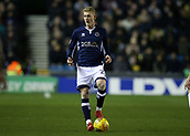 9th February 2018, The Den, London, England; EFL Championship football, Millwall versus Cardiff City; George Saville of Millwall on the ball