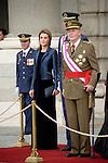 King Juan Carlos I of Spain, Prince Felipe and Princess Letizia during the Pascua Militar ceremony.January 06 ,2014. (ALTERPHOTOS/Pool)