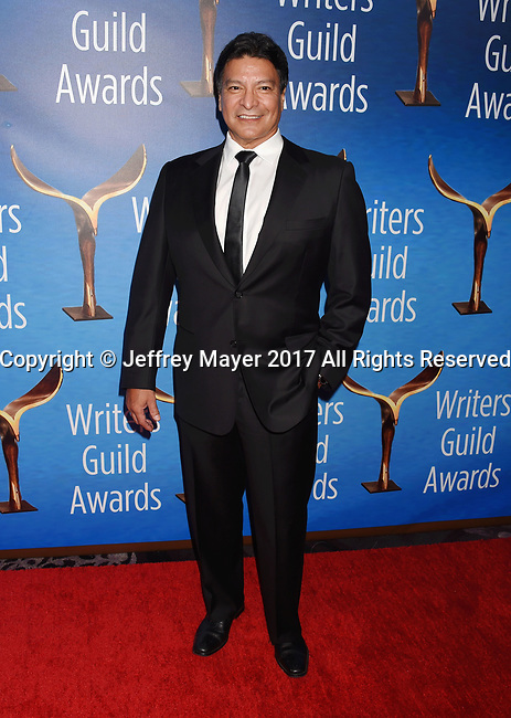 BEVERLY HILLS, CA - FEBRUARY 19: Actor Gil Birmingham attends the 2017 Writers Guild Awards L.A. Ceremony at The Beverly Hilton Hotel on February 19, 2017 in Beverly Hills, California.