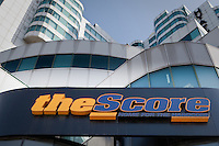 The Score studio is seen in Toronto April 20, 2010. The Score Television Network (often referred to only as The Score) is a Canadian English-language cable television specialty channel providing primarily sports news, highlights, information and analysis programming along with live event sports coverage.