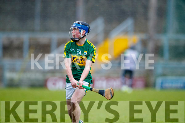 Shane Conway Kerry  in action against  Cork in the Co-op Superstores Munster Senior Hurling League on Sunday 14th January in Austin Stack Park, Tralee.