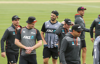 Daryl Mitchell of New Zealand. New Zealand and England T20 cricket team training at Hagley Oval in Christchurch, New Zealand on Thursday, 31 October 2019. Photo: Martin Hunter/ lintottphoto.co.nz