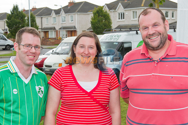 Tony Byrne, Julie Byrne and Kieron Durney at the fun day..Picture: Shane Maguire / www.newsfile.ie.