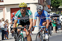 Aitor Galdos (l) and Jose Vicente Toribio during the stage of La Vuelta 2012 beetwen Penafiel-La Lastrilla.September 7,2012. (ALTERPHOTOS/Acero) /NortePhoto.com<br /> <br /> **CREDITO*OBLIGATORIO** *No*Venta*A*Terceros*<br /> *No*Sale*So*third* ***No*Se*Permite*Hacer Archivo***No*Sale*So*third