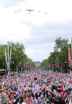 """QUEEN DIAMOND JUBILEE.The massed crowds around Buckingham Palace that turned out to witness the procession and flypast in celebration of the Queen's Diamond Jubilee_5th June 2012.Mandatory Credit Photo: ©S Hughes/NEWSPIX INTERNATIONAL..**ALL FEES PAYABLE TO: """"NEWSPIX INTERNATIONAL""""**..IMMEDIATE CONFIRMATION OF USAGE REQUIRED:.Newspix International, 31 Chinnery Hill, Bishop's Stortford, ENGLAND CM23 3PS.Tel:+441279 324672  ; Fax: +441279656877.Mobile:  07775681153.e-mail: info@newspixinternational.co.uk"""