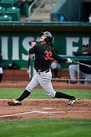 Justin Yurchak (33) of the Great Falls Voyagers bats against the Ogden Raptors at Lindquist Field on September 14, 2017 in Ogden, Utah. The Raptors defeated the Voyagers 7-4 in Game One of the Pioneer League Championship. (Stephen Smith/Four Seam Images)