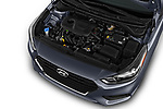 Car stock 2018 Hyundai Accent SE 4 Door Sedan engine high angle detail view