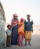 ERITREA, Saroita, portrait of the Bedri family in front of their home in the small village of Saroita, Afar family