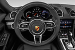 Car pictures of steering wheel view of a 2019 Porsche 718 Boxster Base 2 Door Convertible