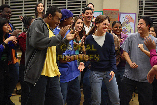 MARIO, DEANCE WYATT & HILARY SWANK.in Freedom Writers .**Editorial Use Only**.CAP/FB.Supplied by Capital Pictures