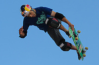 17 August, 2012:  Sandro Dias competes in the Skateboard Vert semi-final at the Pantech Beach Championships in Ocean City, MD.