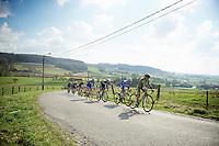peloton chasing up the Côte des Papins (12%)<br /> <br /> GP Le Samyn 2014