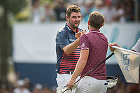 Marc Leishman (AUS) and Cameron Smith (AUS) during the final round of the Australian PGA Championship, Royal Pines Resort Golf Course, Benowa, Queensland, Australia. 02/12/2018<br /> Picture: Golffile | Anthony Powter<br /> <br /> <br /> All photo usage must carry mandatory copyright credit (&copy; Golffile | Anthony Powter)