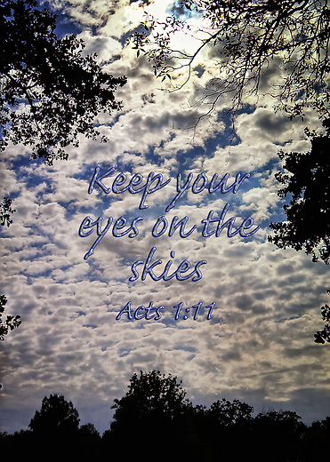 Inspirational clouds on a sunny day