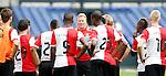 Nederland, Rotterdam, 27 juni 2012.Seizoen 2012-2013.Eerste training Feyenoord.Ronald Koeman, trainer-coach van Feyenoord overlegd met zijn spelersgroep