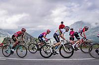 World Champion Alejandro Valverde (ESP/Movistar) & red jersey (overall leader) Primoz Roglic (SVK/Jumbo-Visma) up the Alto de La Cubilla<br /> <br /> Stage 16: Pravia to Alto de La Cubilla. Lena (144km)<br /> La Vuelta 2019<br /> <br /> ©kramon