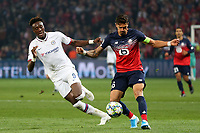 Tammy Abraham of Chelsea and Jose Fonte of Lille OSC during Lille OSC vs Chelsea, UEFA Champions League Football at Stade Pierre-Mauroy on 2nd October 2019
