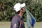 DURBAN - 12 January 2014 - South African golfer Louis Oosthuizen kisses his trophy after winning the Volvo Glf Champions tournament at the Durban Country Club. Picture: Allied Picture Press/APP