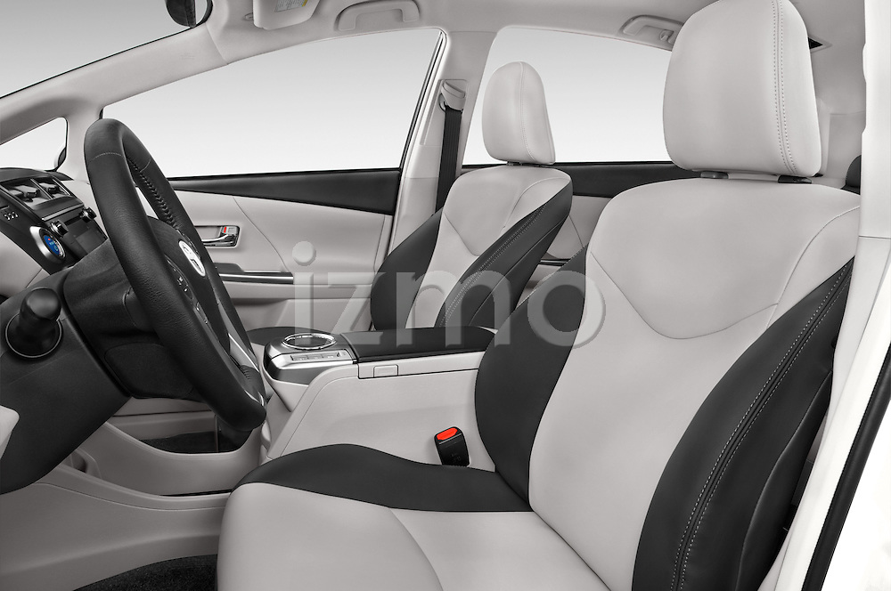 Front seat view of a 2015 Toyota Prius v Four 4 Door Hatchback Front Seat car photos