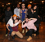 "Jimmie ""JJ"" Jeter, Lauren Boyd, Deon'te Goodman, Thayne Jasperson, Anthony Lee Medina, Giuseppe Bausitio, Terrance Spencer and Gabriella Sorrentino during the eduHAM Q & A before The Rockefeller Foundation and The Gilder Lehrman Institute of American History sponsored High School student #EduHam matinee performance of ""Hamilton"" at the Richard Rodgers Theatre on November 13, 2019 in New York City."