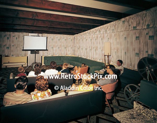 Satellite Motel in Wildwood, New Jersey. Movie Night with the movie projector.