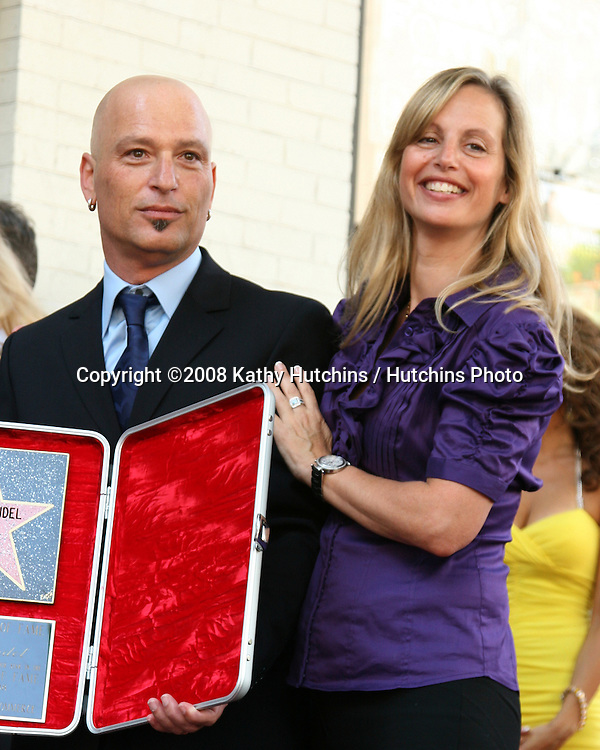 Howie Mandel  & wife at the Hollywood Walk of Fame ceremony for Howie Mandel  Los Angeles,   CA on.September 4, 2008.©2008 Kathy Hutchins / Hutchins Photo....