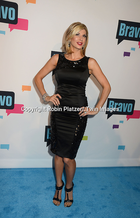 Alexis Bellino of The Real Housewives of Orange County arrive at the Bravo 2013  Upfront on April 3, 2013 at Pillars 37 Studio in New York City.
