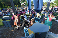NWA Democrat-Gazette/J.T. WAMPLER Performers whirl and dance during an Opera in the Ozarks presentation of Cinderella Tuesday June 5, 2018 at the Botanical Garden of the Ozarks in Fayetteville. Cinderella stars a cast of Opera in the Ozarks studio artists and features the music of Rossini and other famous composers. There is another performance today ((WEDNESDAY)) at the Rogers Public Library and tomorrow ((THURSDAY JUNE 7)) at the Walton Life Fitness Center in Bentonville. All performances are free.