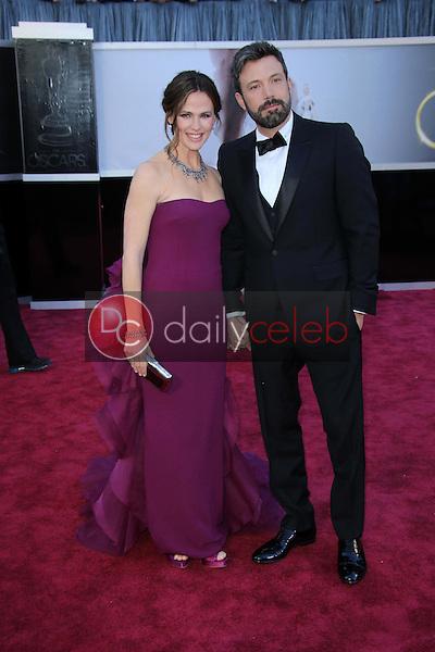 Jennifer Garner, Ben Affleck<br /> at the 85th Annual Academy Awards Arrivals, Dolby Theater, Hollywood, CA 02-24-13<br /> David Edwards/DailyCeleb.com 818-249-4998