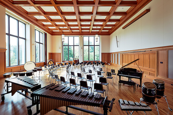 Symphony Practice room in the Music Department of Marist College, Poughkeepsie, NY
