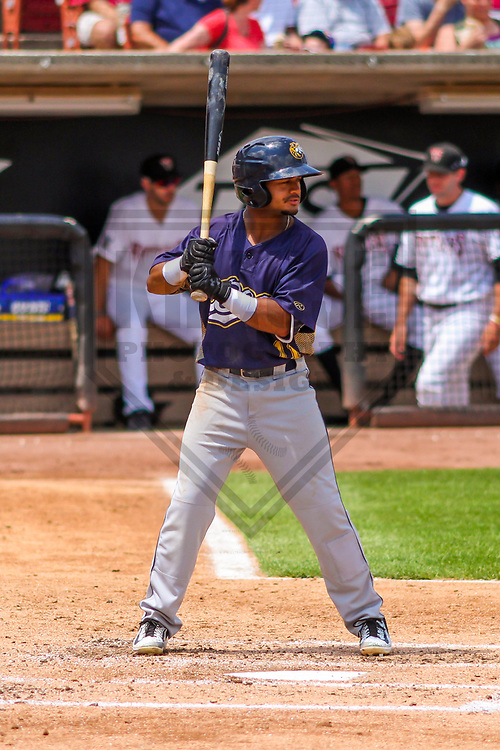Burlington Bees outfielder Derek Jenkins (11) during a Midwest League game against the Wisconsin Timber Rattlers on July 10, 2017 at Fox Cities Stadium in Appleton, Wisconsin.  Burlington defeated Wisconsin 6-3. (Brad Krause/Krause Sports Photography)