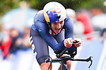 Chloe Dygert of the United States of America in action during the Women's Elite Individual Time Trial of the UCI World Championships 2019 running 30.3km from Ripon to Harrogate, England. 24th September 2019.<br /> Picture: Alex Whitehead/SWPix.com | Cyclefile<br /> <br /> All photos usage must carry mandatory copyright credit (© Cyclefile | Alex Whitehead/SWPix.com)