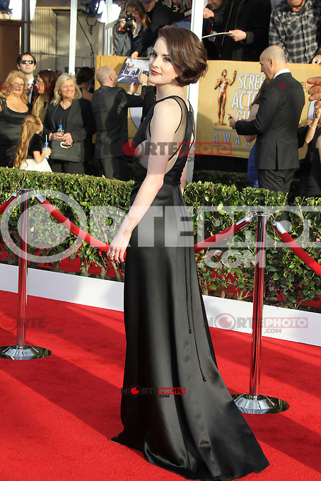 LOS ANGELES, CA - JANUARY 27: Michelle Dockery at The 19th Annual Screen Actors Guild Awards at the Los Angeles Shrine Exposition Center in Los Angeles, California. January 27, 2013. Credit: mpi27/MediaPunch Inc. /NortePhoto /NortePhoto