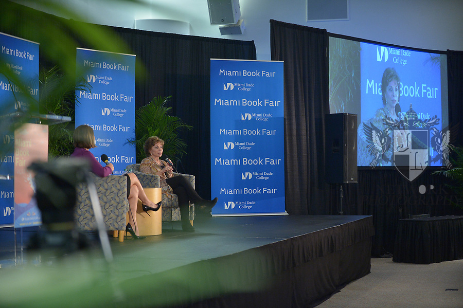 MIAMI, FL - NOVEMBER 15: Isabel Allende in conversation with Maria Elena Salinas during The Miami Book Fair at Miami Dade College Wolfson - Chapman Conference Center on November 15, 2017 in Miami, Florida. ( Photo by Johnny Louis / jlnphotography.com )